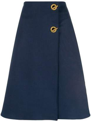 Tory Burch marine A-line skirt