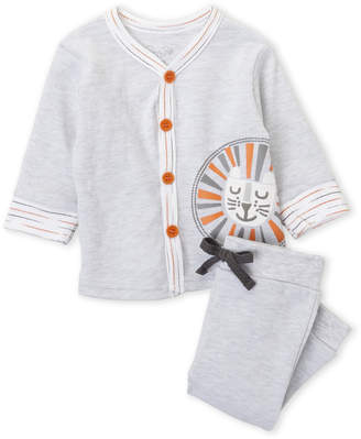 Rene Rofe Newborn Boys) Two-Piece V-Neck Cardigan & Pants Set