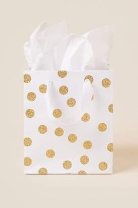 Gold Polka Dot Small Gift Bag