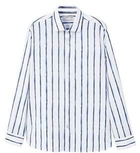 Mango man MANGO MAN Slim-fit tie-dye stripes shirt