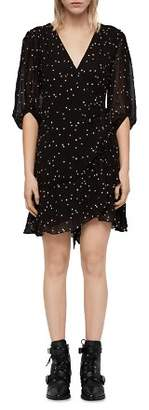 AllSaints Gracie Nala Embroidered Tie-Waist Dress