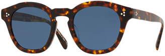 Oliver Peoples Men's Boudreau LA 48 Round Acetate Sunglasses