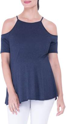 Olian Open Shoulder Maternity Top