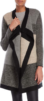 Metric Color Block Long Sleeve Cardigan