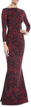 Chiara Boni Sotera Leopard-Print Mermaid Gown