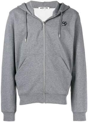 McQ swallow zipped hoodie
