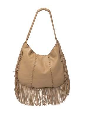 Hobo Gypsy Leather Fringe Shoulder Bag