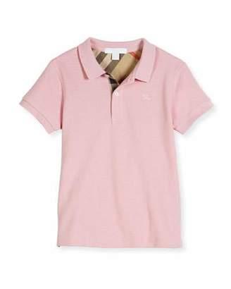 Burberry Mini PPM Pique Polo Shirt, Light Pink, Size 4-14 $70 thestylecure.com