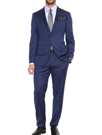 Canali Single Breasted Wool Slim Fit Suit