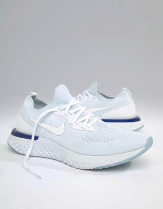 Nike Running Epic React Flyknit Sneakers In White AQ0067-100