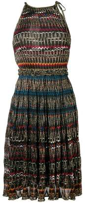 Missoni halter fitted knit dress
