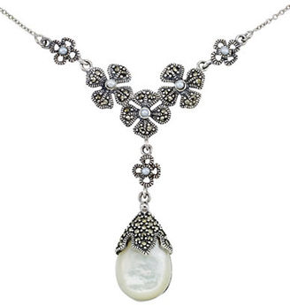 Lord & Taylor Mother of Pearl Pear Pendant Necklace $300 thestylecure.com