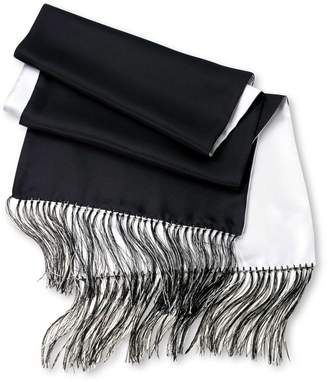Charles Tyrwhitt Black and White Reversible Silk Scarf
