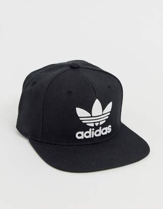 adidas snapback hat with logo in black