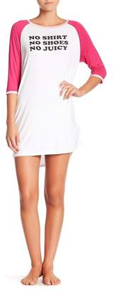 Juicy Couture 3/4 Sleeve Night Shirt