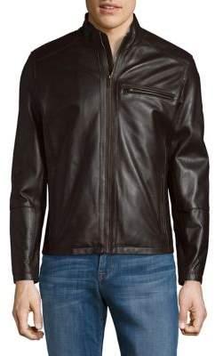 Cole Haan Full-Zip Leather Jacket