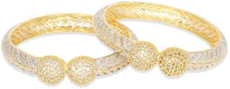 Ratna Creation Beautiful Gold Plated Indian Diamond Bangle Set Women American Diamond Bangle Bracelet Set Jewellery (2.10)