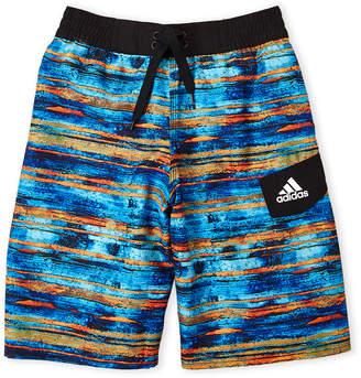adidas Boys 8-20) Water Stripe Board Shorts