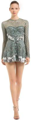 Net Effect Beaded Dress