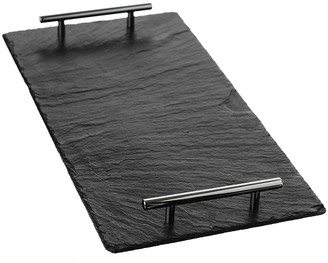 Just Slate The Company - Serving Tray with Tube Handles - Small