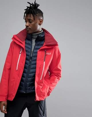 Jack Wolfskin Exolight 3 in 1 Ski Jacket in Red