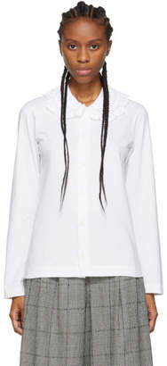 Comme des Garcons White Ruffled Collar Shirt