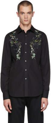 Alexander McQueen Black Floral Shirt