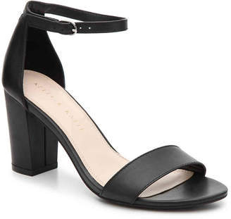 Kelly & Katie Hailee Sandal -Black Faux Leather - Women's