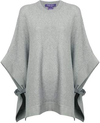 Ralph Lauren buckle detail knitted poncho