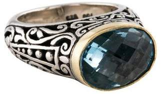 Konstantino Two-Tone Blue Topaz Cocktail Ring