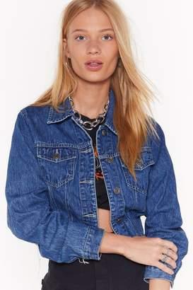 Nasty Gal Womens Vintage Crop It Off Denim Jacket - Black - M/L