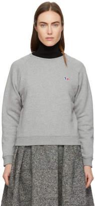 MAISON KITSUNÉ Grey Tricolor Fox Patch Sweatshirt