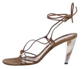 Dolce & Gabbana Suede Round-Toe Sandals