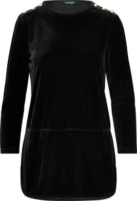 Ralph Lauren Velvet Tunic Top