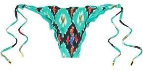 Vix Paula Hermanny Ripple Printed Low-Rise Bikini Briefs