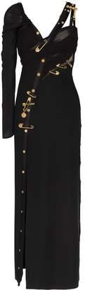Versace safety pin asymmetric dress