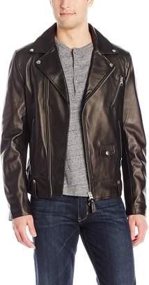 Mackage Men's Fenton Sleek Leather Biker Jacket