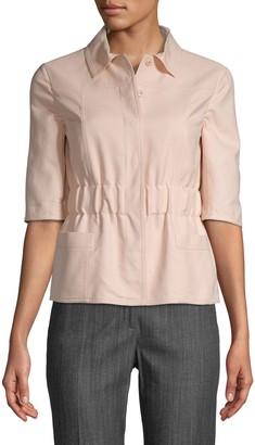 Akris Elbow-Length Cotton-Blend Top