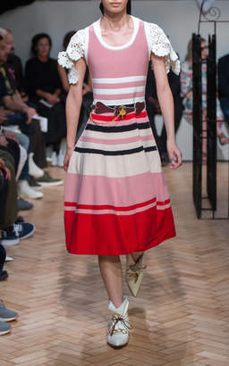 J.W.Anderson Striped Cotton-Blend Dress