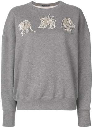 Alexander McQueen AMQ embroidered sweatshirt
