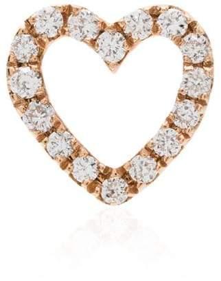 7fe472ddc Loquet 18kt rose gold diamond heart charm
