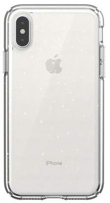 Speck Clear\u002FGold iPhone XS\u002FX Gemshell Glitter Case