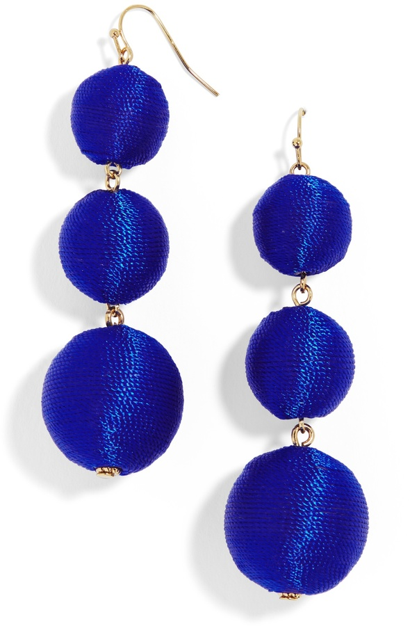 Fluoro Crispin Ball Drop Earrings