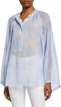 Michael Kors Poet Silk Long-Sleeve Blouse
