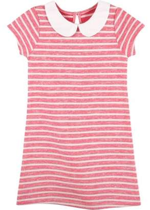 G-Cutee Newborn Baby Girls' Peter Pan Collar Red Striped Knit Dress