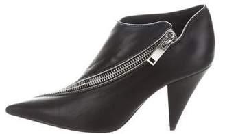 Celine Leather Zipper Booties w/ Tags