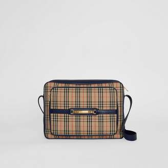 Burberry The Large 1983 Check Link Camera Bag, Blue