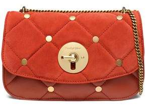 See by Chloe Lois Studded Quilted Suede And Leather Shoulder Bag