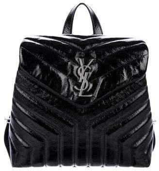 Saint Laurent 2017 Patent Matelasse Small Loulou Monogram Backpack
