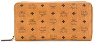 MCM logo print zip wallet